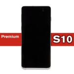 Galaxy S10 LCD Assembly with frame Prism White (Premium)