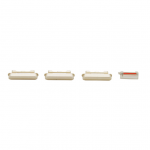 iPhone 6 Rear Case Button Set Replacement - White/Gold