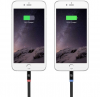 Scosche Flatout LED 6 ft. Charge & Sync Cable w/LED Indicator for Lightning Devices - Black