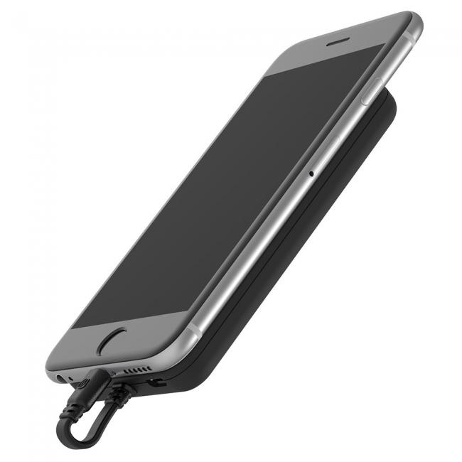 Scosche Magnetically Mounted Portable Power Bank for Lightning Devices – Black