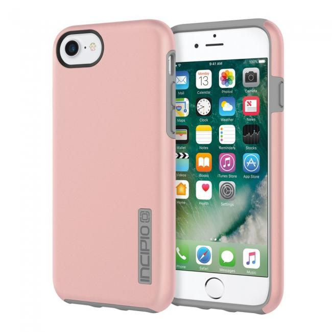 Incipio DualPro iPhone 7 Protective Hard Shell Case - Rose Gold/Gray