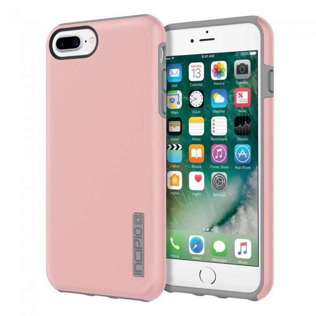 Incipio DualPro iPhone 7 Plus Protective Hard Shell Case - Rose Gold/Gray