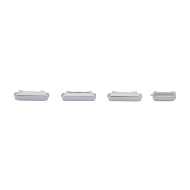 iPhone 6 Plus Rear Case Button Set Replacement - White/Silver