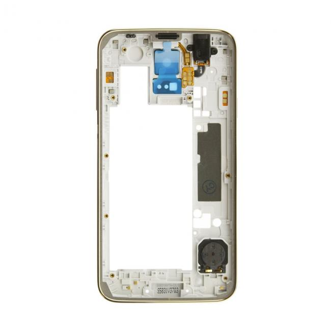 Samsung Galaxy S5 Rear Housing with Small Parts - Gold