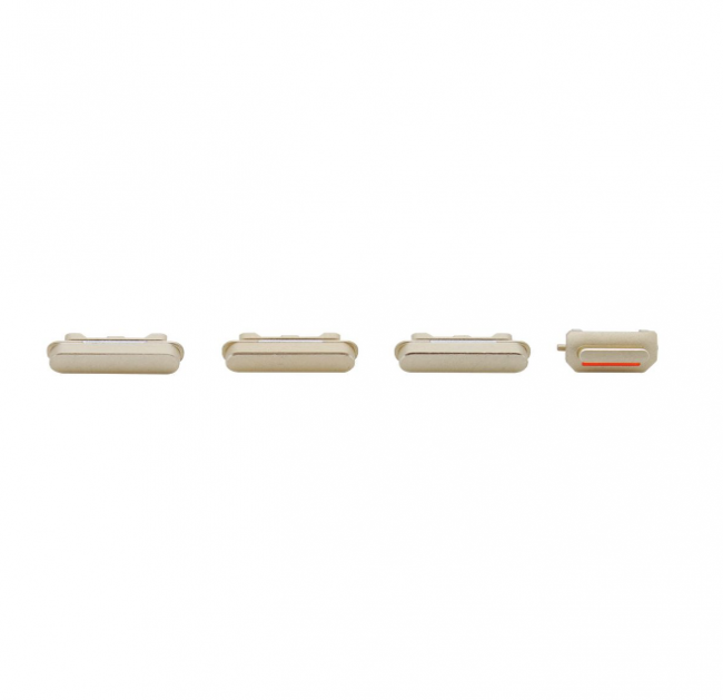 iPhone 6 Plus Rear Case Button Set Replacement - White/Gold