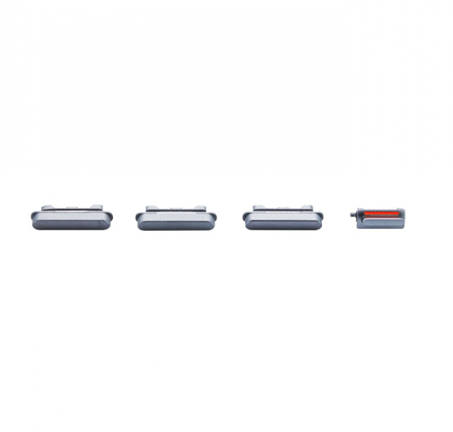 iPhone 6 Rear Case Button Set Replacement - Black/Space Gray