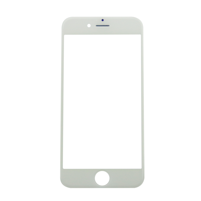 iPhone 6 Glass Lens Screen & Frame - White (Cold Pressed)