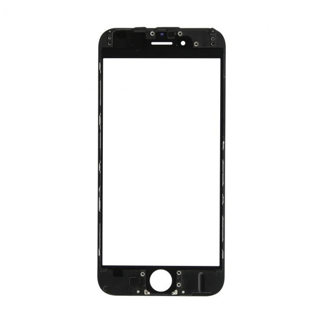 iPhone 6 Glass Lens Screen & Frame - Black (Cold Pressed)
