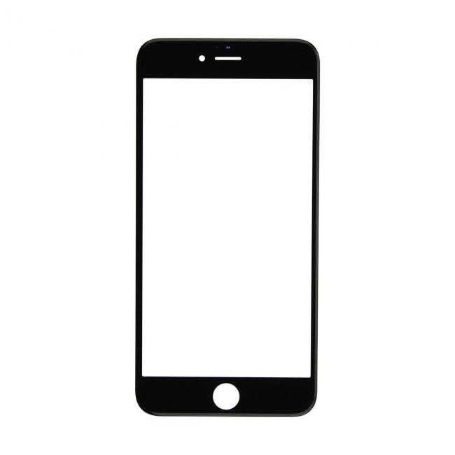 iPhone 6 Plus Glass Lens Screen & Frame - Black (Cold Pressed)