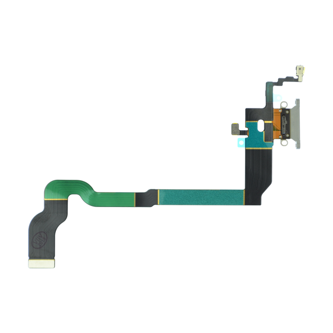 iPhone X Charging Port Flex Cable Replacement - Silver