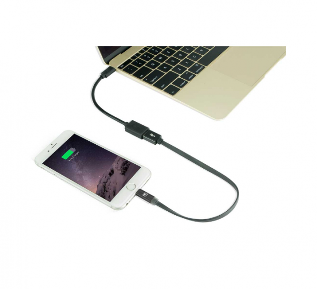 Scosche USB-C to USB-A Charge & Sync Cable Adapter (USB 3.1, 5Gbps)