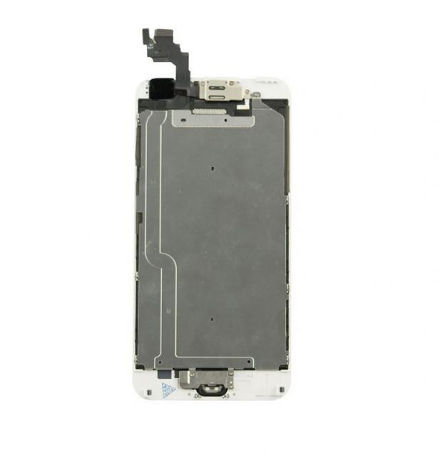 iPhone 6 Plus LCD & Touch Screen Assembly with Small Parts - White/Silver