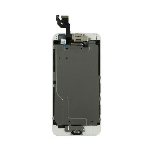 iPhone 6 LCD & Touch Screen Assembly with Small Parts - White/Silver